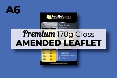 A6 Premium 170g Gloss Leaflets with Amendments