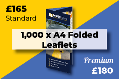 1,000 A4 Folded Leaflets Designed and Printed