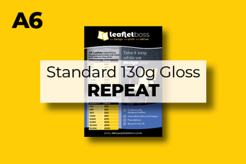 A6 Standard 130g Gloss Leaflets Repeat