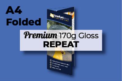 A4 Folded Premium 170g Gloss REPEAT