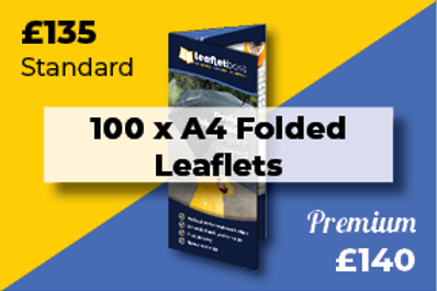 100 A4 Folded Leaflets Designed and Printed