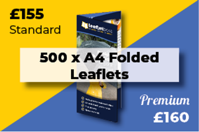 500 A4 Folded Leaflets Designed and Printed