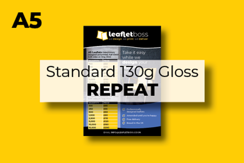 A5 Standard 130g Gloss Leaflets Repeat