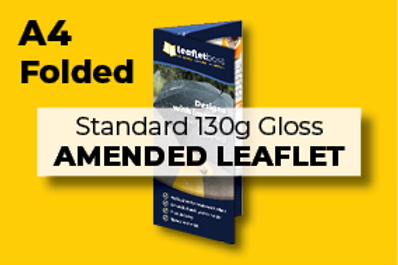 A4 Folded Standard 130g Gloss AMENDED