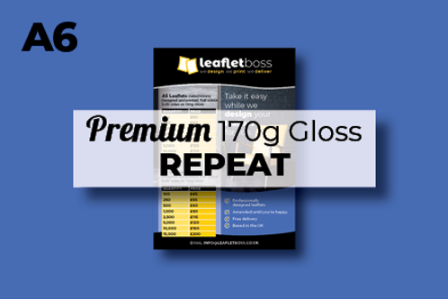 A6 Premium 170g Gloss Leaflets Repeat