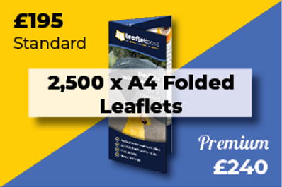 2,500 A4 Folded Leaflets Designed and Printed