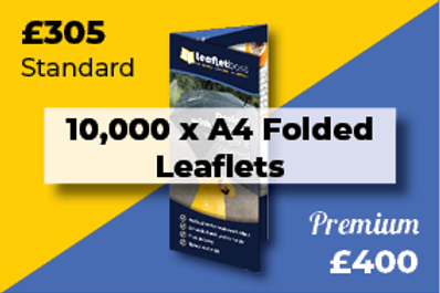 10,000 A4 Folded Leaflets Designed and Printed