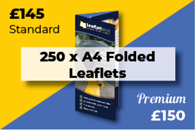250 A4 Folded Leaflets Designed and Printed