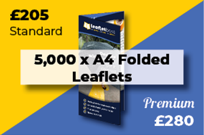 5,000 A4 Folded Leaflets Designed and Printed