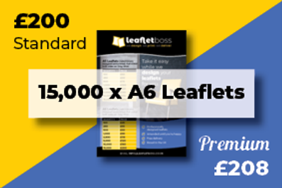15,000 A6 Leaflets Designed and Printed