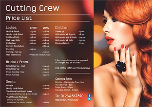Stunning hair salon leaflet