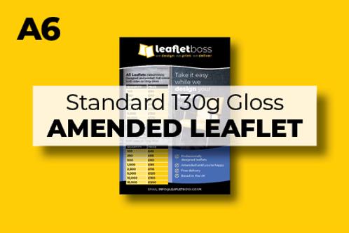 A6 Standard 130g Gloss Leaflets with Amendments