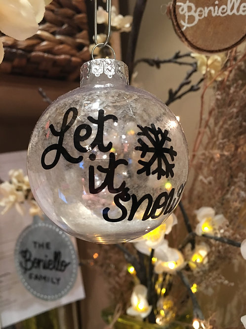 B Boards Let It Snow Ornament