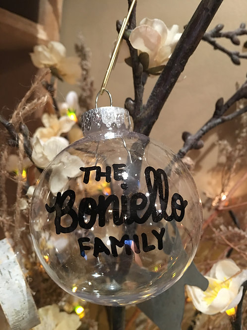 B Boards Clear Family Ornament