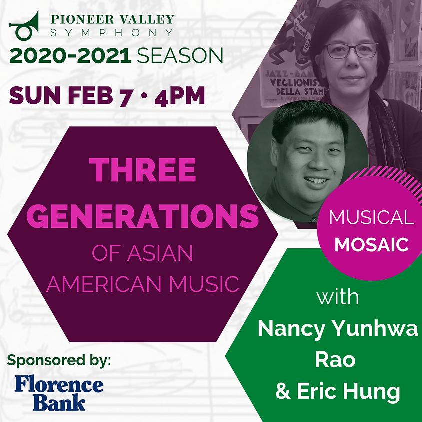 Musical Mosaic: Three Generations of Asian American Music