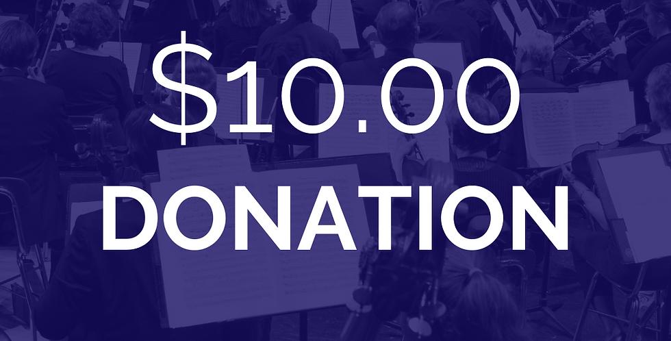Add a $10 donation