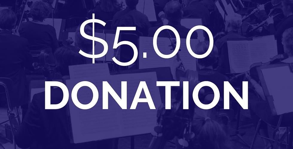 Add a $5 donation