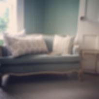 Favorite little corner #vintagesofa #reupholstered #johnrobshaw #blockprintedpillow #pillows #blockp
