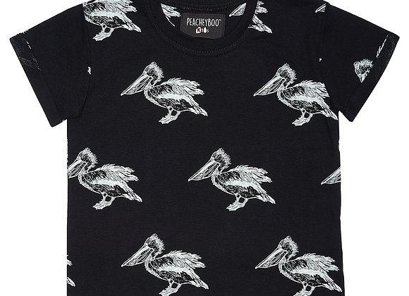 Black Pelican Print Tee