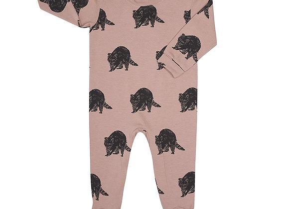 Raccoon Print Babygrow