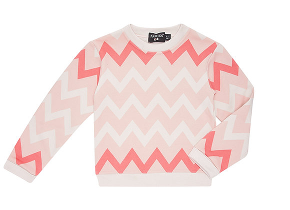 Flash Pink Chevron Sweater