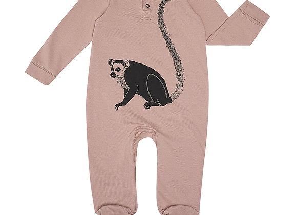 Plum Lemur Babygrow