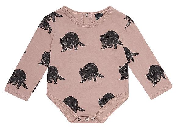 Raccoon Print Bodysuit