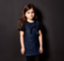 Peacheyboo | British Childrenswear- Denim Pinafore Dress