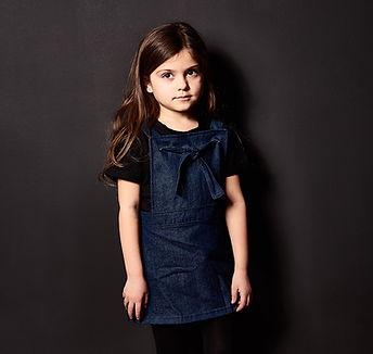 Peacheyboo | British Childrenswear- Denim Pinafore Dress