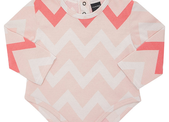 Flash Pink Chevron Bodysuit