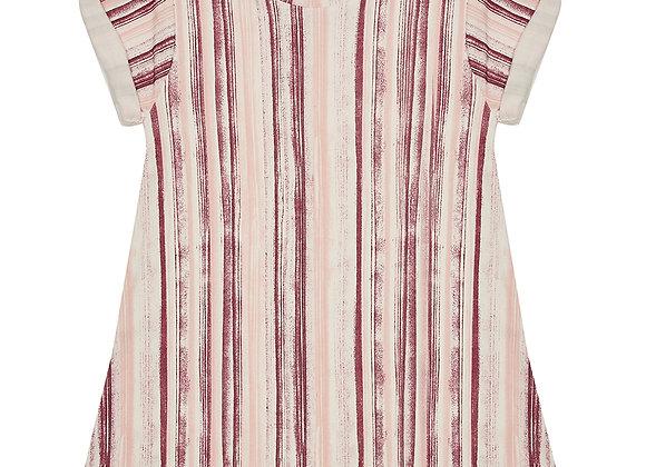 Raspberry Ripple Stripe T-shirt Dress