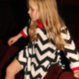 Peacheyboo | British Childrenswear- Chevron Dress, The Gate Cinema, Nottinghill