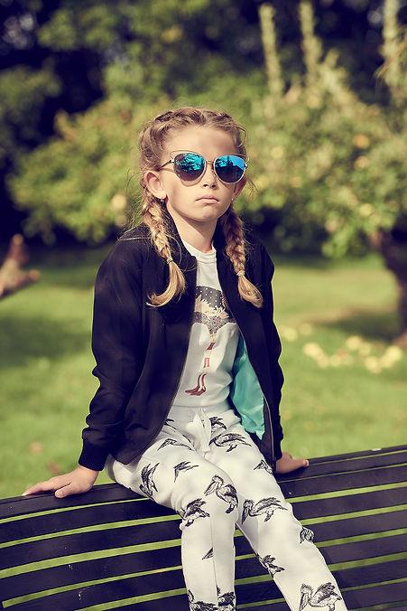 Peacheyboo | British Childrenswear - Pelican Sweatpants, Flamingo Tee, Raccoon Bomber Jacket