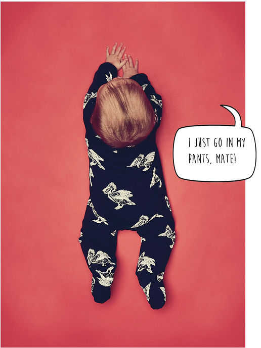 Peacheyboo | British Childrenswear- Pelican Print Babygrow