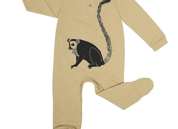Oatmeal Lemur Babygrow