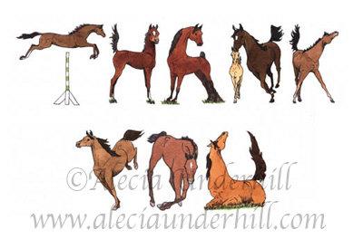 Horse Thank-you notes