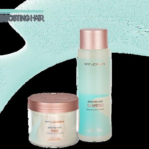 Coffret HyLoren Premium Cheveux Fins et Fragiles Shampooing & Masque 500 ml