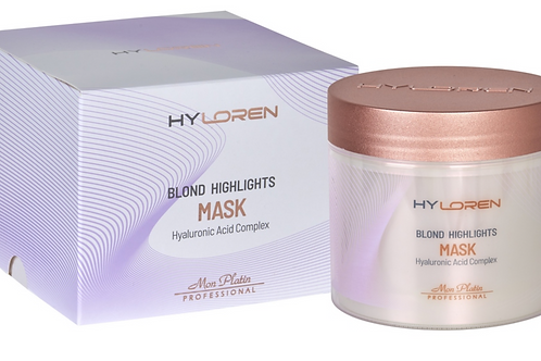HyLoren Premium N°2 Masque Capillaire Cheveux Blond Méchés - 500 ml