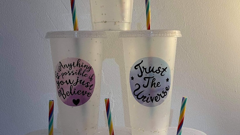 Drinking Cup - Trust the universe