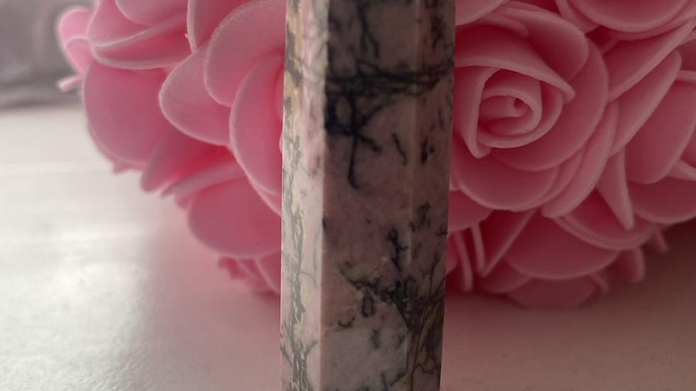 Rhodonite Pillar Crystal (medium)