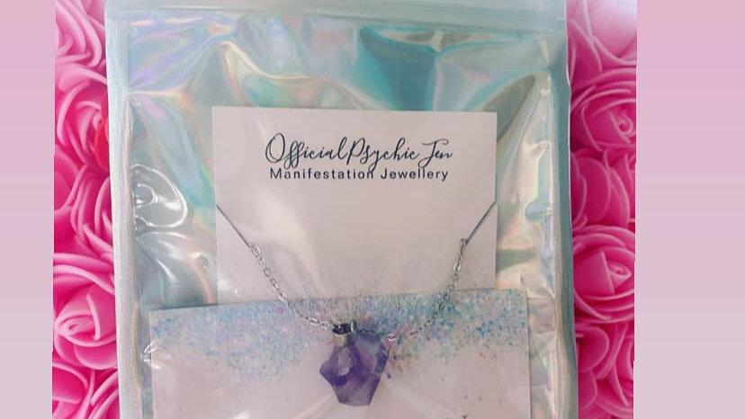 Amethyst Crystal Healing Necklace