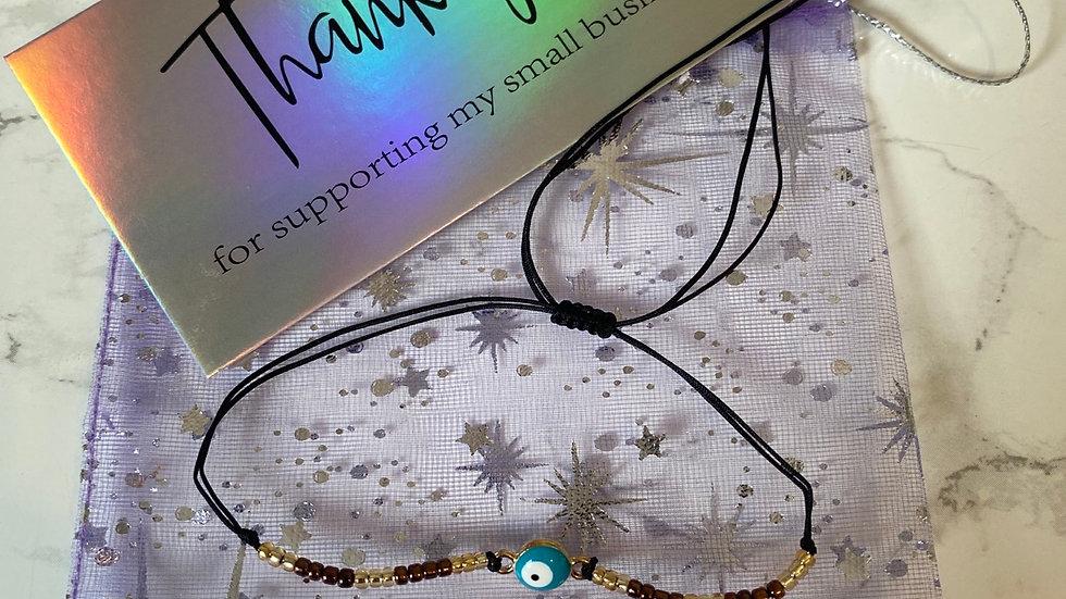 Turkish Eye Boho Bracelet - Brown
