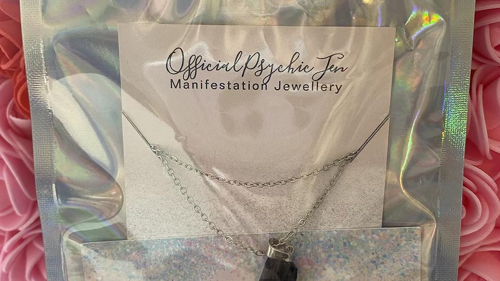 Black Tourmaline Crystal Healing Necklace