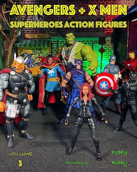 Avengers + x men: superheroes action figures