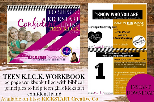 Teen Confidence KICK Workbook