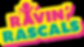 Ravin' Rascals Logo on black.png