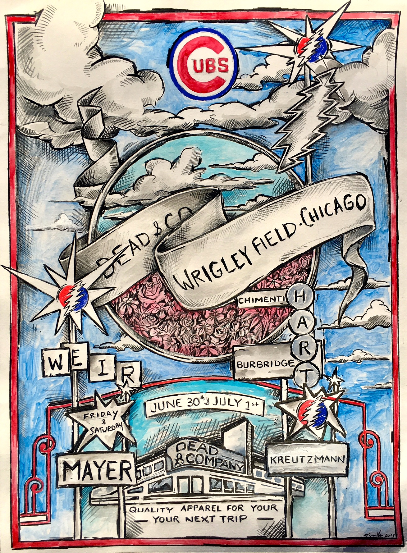 Dead and Co. Wrigley 2107