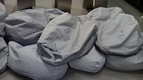 Čištění sedacích pytlů