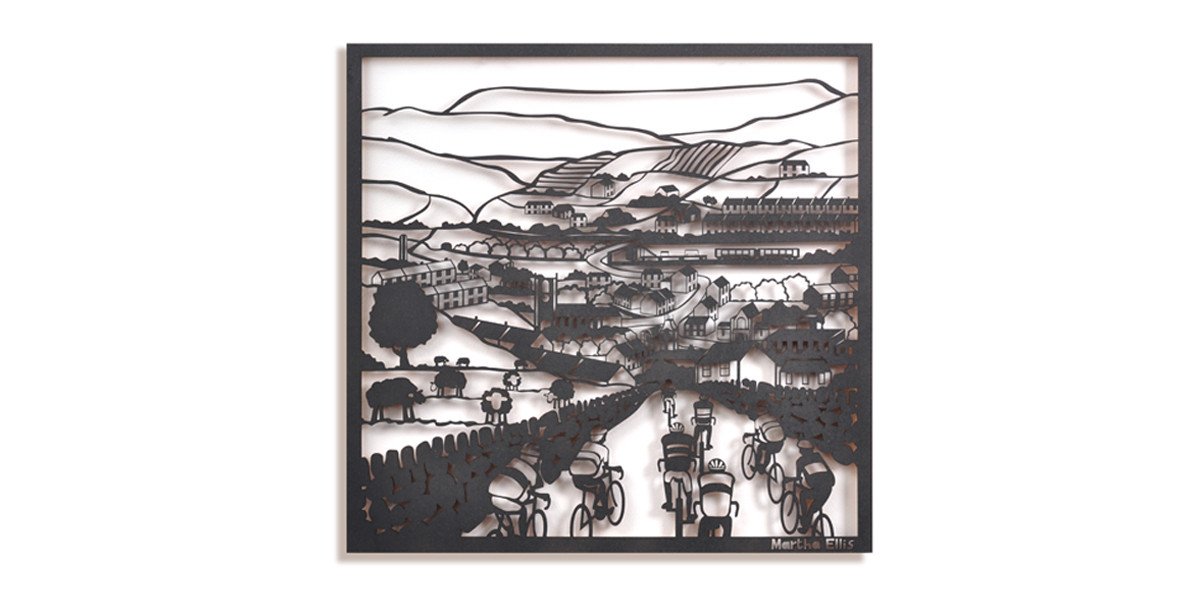 Martha Ellis The Descent laser cut drawing Yorkshire