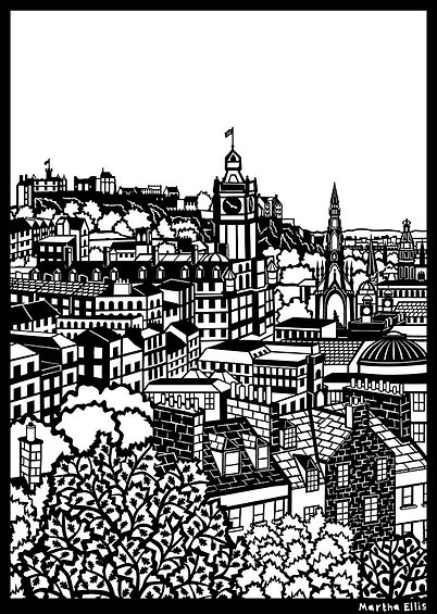 drawing of edinbugh by Martha Ellis